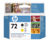 HP no 72 - matná černá a žlutá tisk. hlava, C9384A