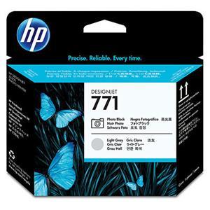 HP no 771 - foto černá/ sv.šedá tisk.hlava, CE020A