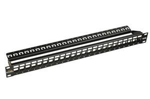 """19"""" Neosazený 10G panel Solarix 24portů pro CAT6A"""