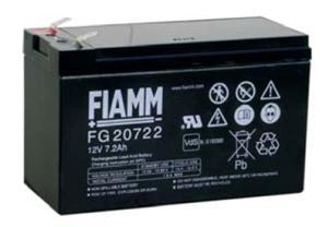 Fiamm olověná baterie FG20722 12V/ 7, 2Ah Faston 6, 3
