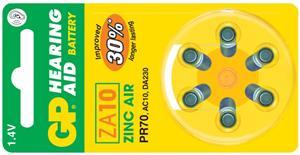 Baterie do naslouchadel GP ZA10 - 6ks