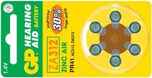 Baterie do naslouchadel GP ZA312 - 6ks