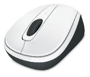 Microsoft Wireless Mobile Mouse 3500, White Gloss