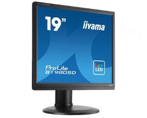 """19"""" LCD iiyama Prolite B1980SD-B1 - 5ms, 250cd/ m2, 1000:1, 5:4, VGA, DVI, repro, pivot, výšk.n"""