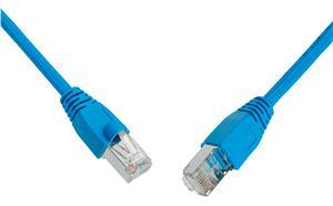 SOLARIX patch kabel CAT6 SFTP PVC 0, 5m modrý snag-proof