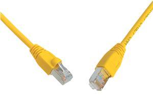 SOLARIX patch kabel CAT6 SFTP PVC 0, 5m žlutý