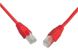 SOLARIX patch kabel CAT6 SFTP PVC 1m červený