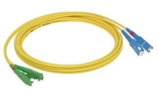 Patchcord FO duplex E2000/ APC-SC/ PC 9/ 125um SM 10m, OS2