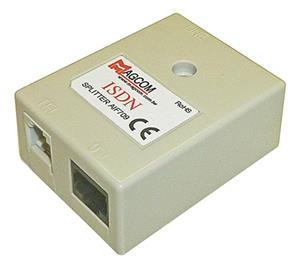 WELL ADSL/ VDSL Splitter AIF709, Annex B, 2x RJ-11, 1x RJ-45