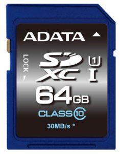 ADATA SDXC 64GB UHS-I Premier, Class 10