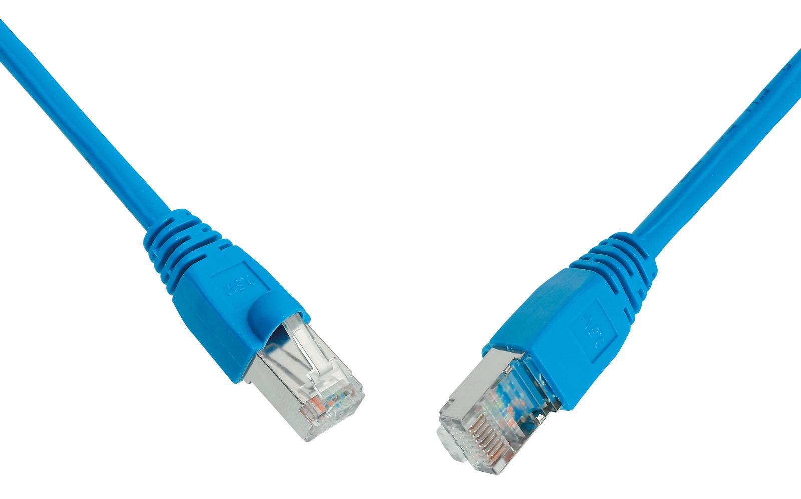 SOLARIX patch kabel CAT6 UTP PVC 2m modrý snag-proof