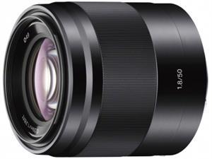 Sony objektiv SEL-50F18B, 50mm, F1, 8, černý pro NEX