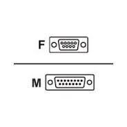 Honeywell RS232 kabel black, DB9, 5V, 2.9m , rovný, 9F/ 15M