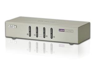 Aten 4-port KVM USB, audio 2.1, včetně kabelů