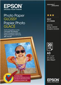 EPSON Photo Paper Glossy A3 20 listů