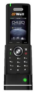 "WELL RTX8630 IP DECT ručka pro RTX8660, 2"" bar.LCD, 8 prog.tl."