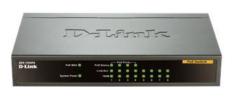 D-Link DES-1008PA 8x10/ 100 Desktop Switch, 4xPoE