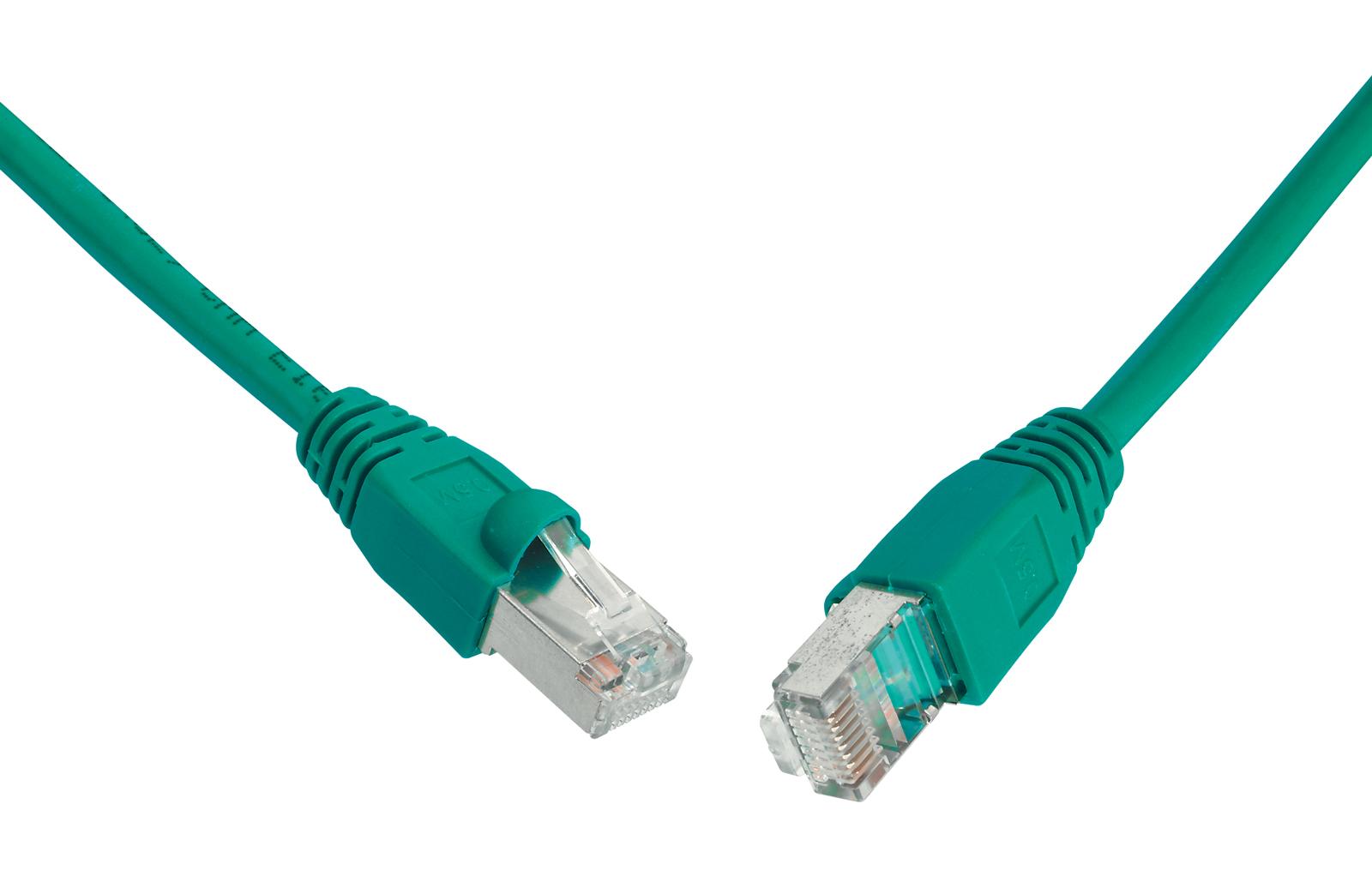 SOLARIX patch kabel CAT6 UTP PVC 1m zelený snag-proof