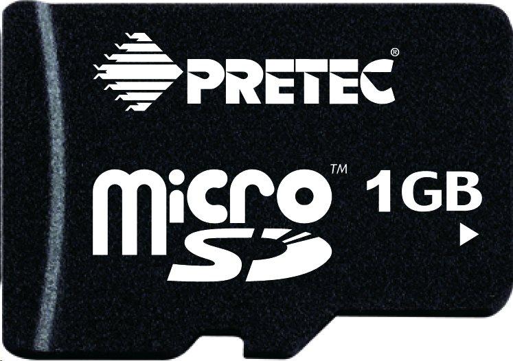 Pretec Industrial microSDHC Card 1GB, -40°C/ +85°C