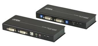 ATEN Extender PC-konzole Dual DVI až 60m , USB