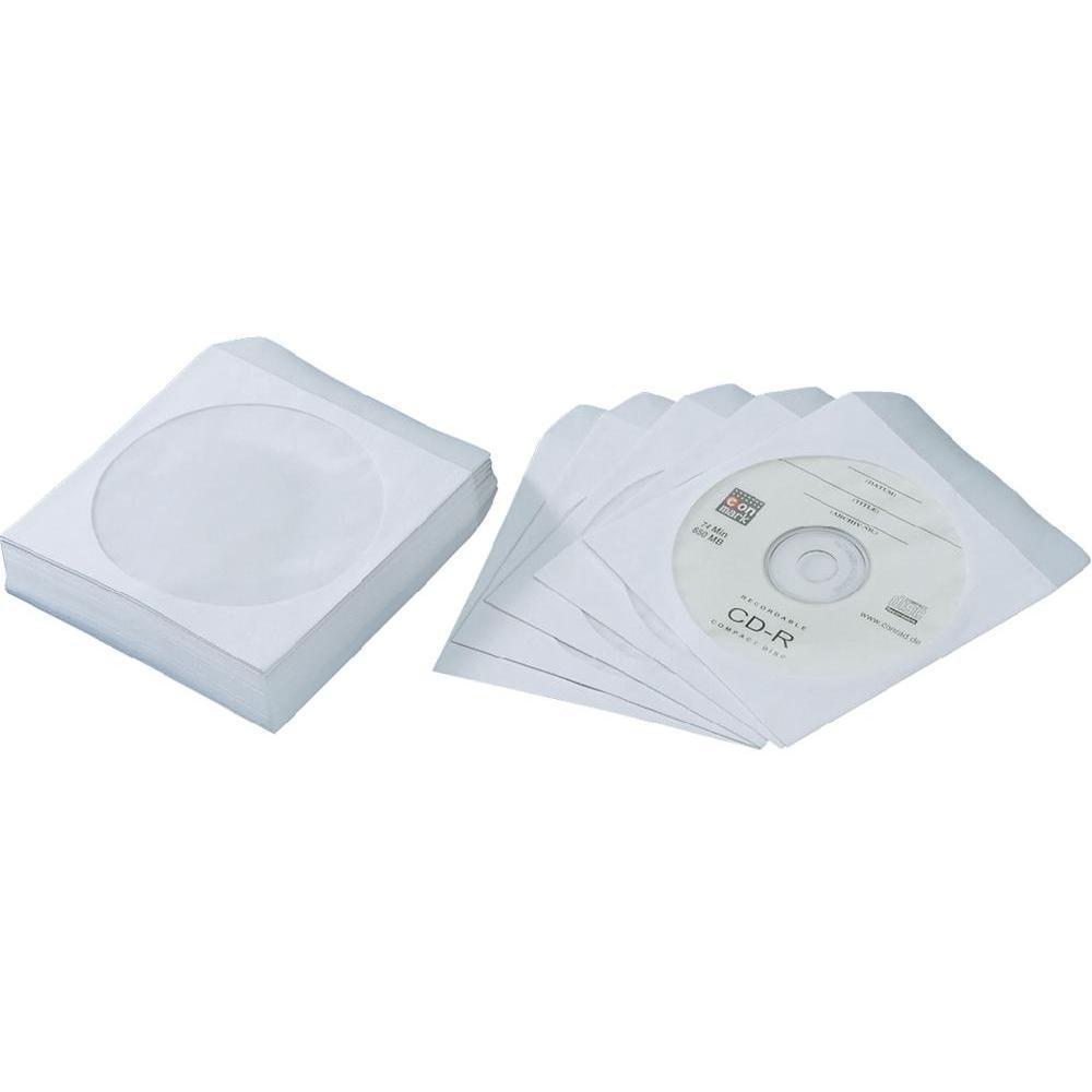 Papírová obálka pro CD nebo DVD s okénkem 100 ks