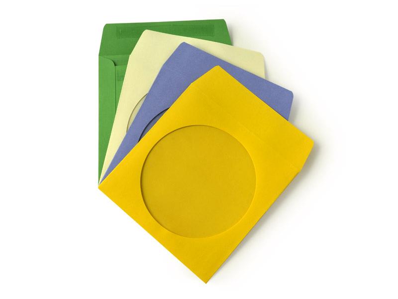 Papírová obálka pro CD/ DVD s okénkem, barevné 100ks
