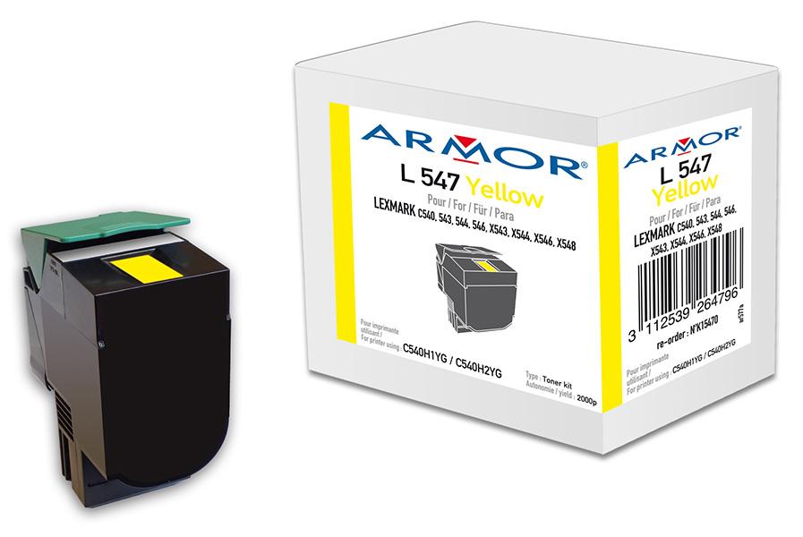 OWA Armor toner pro Lexmark komp. C540H1YG, 2.000str, Y