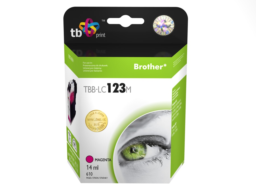 Ink.kazeta kompatibilni s Brother LC123M 100% new