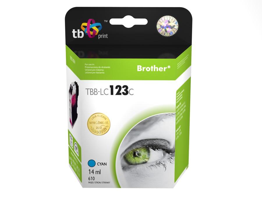 Ink.kazeta kompatibilni s Brother LC123C 100% new