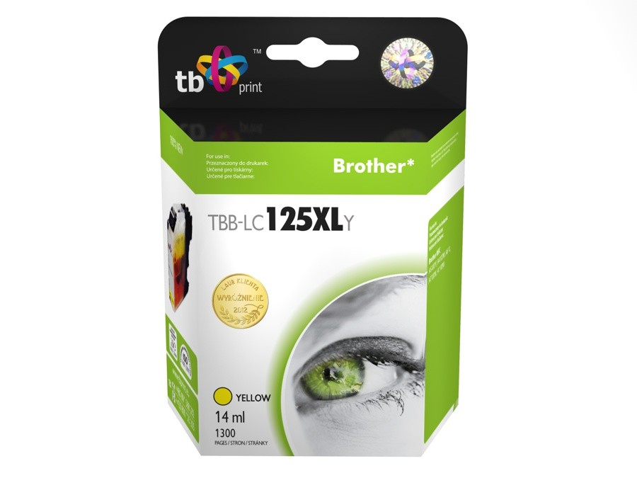 Ink.kazet kompatibilni s Brother LC125XLY 100% new