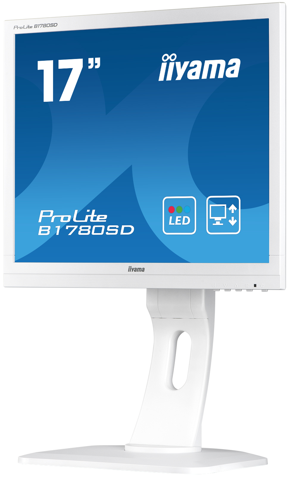 "17"" LCD iiyama Prolite B1780SD-W1 - 5ms, 250cd/ m2, 1000:1, 5:4, VGA, DVI, repro, pivot, výšk.n"