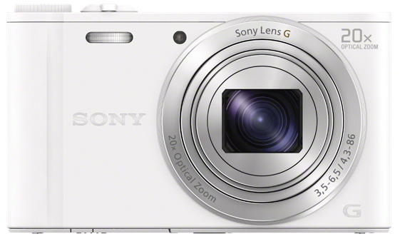 Sony DSC-WX350 bílá, 18, 2Mpix, 20xOZ, fullHD, WiFi