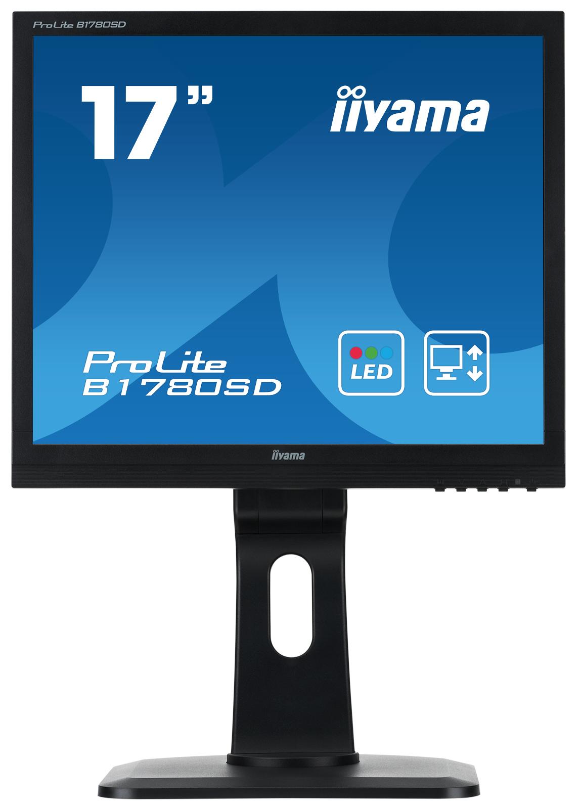 """17"""" LCD iiyama Prolite B1780SD-B1 - 5ms, 250cd/ m2, 1000:1, 5:4, VGA, DVI, repro, pivot, výšk.n"""