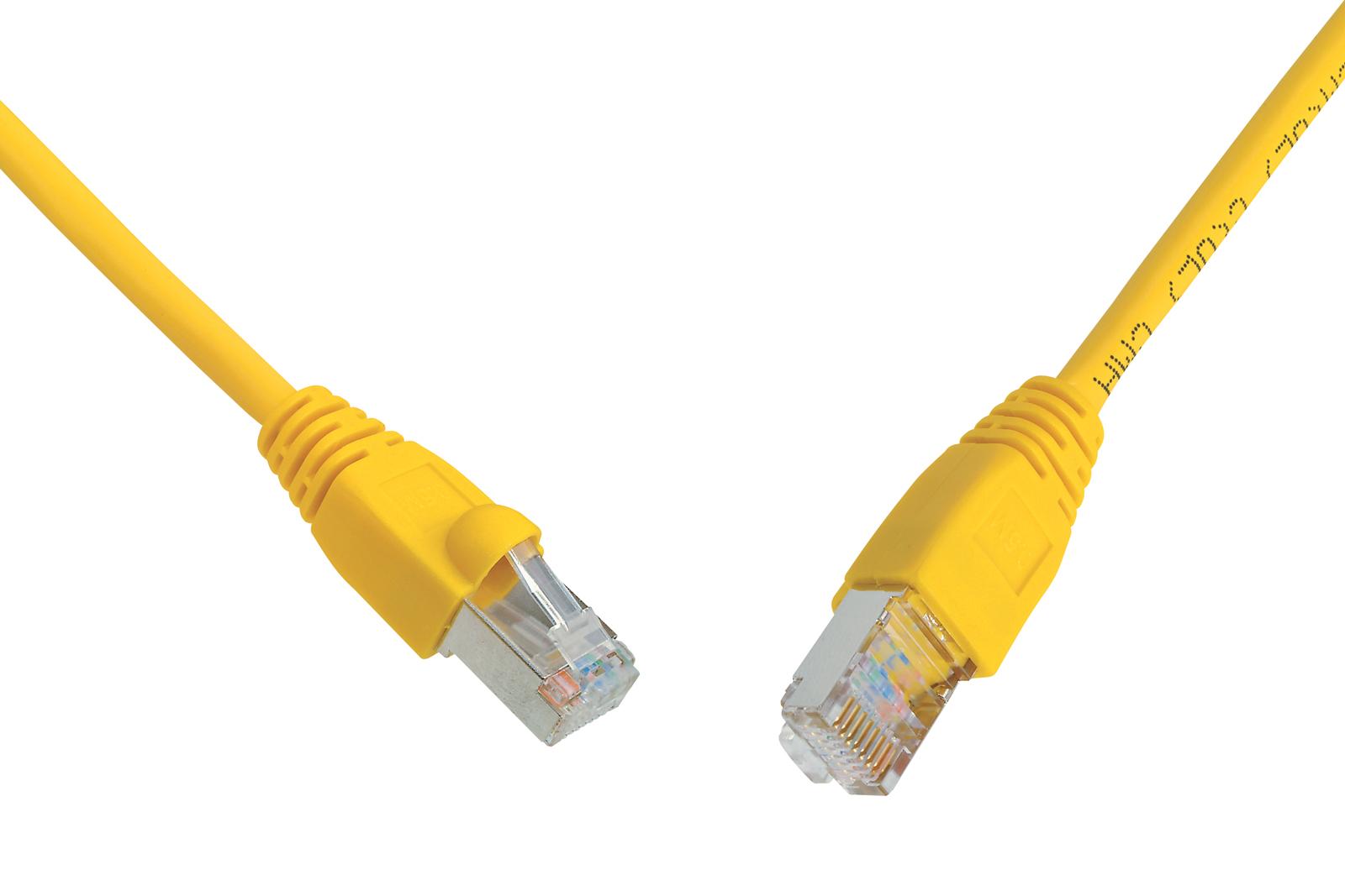 SOLARIX patch kabel CAT6 UTP PVC 1m žlutý snag proof