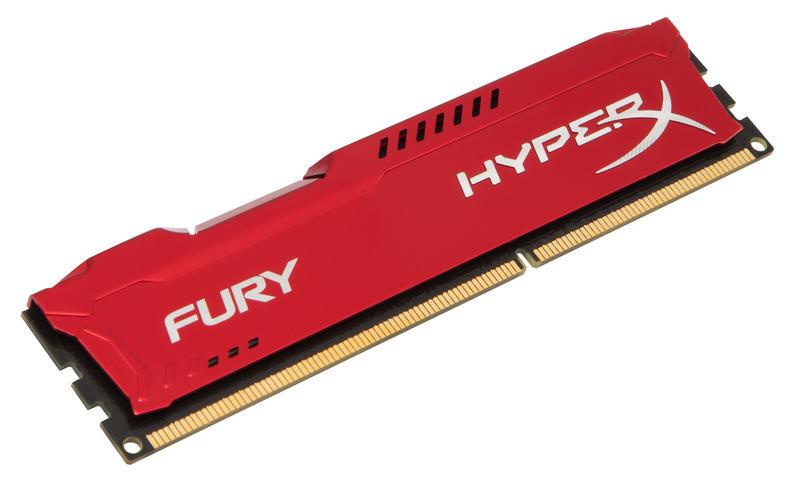 8GB DDR3-1866MHz Kingston HyperX Fury Red