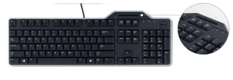 Dell klávesnice se čtečkou Smart karet KB-813 (čipových karet) , CZ (KB813-BK-CZE)