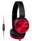 SONY sluchátka MDR-ZX310AP, handsfree, červené