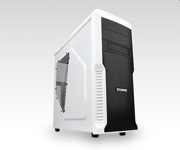 case Zalman miditower Z3 Plus, mATX/ ATX, průhledný bok, bez zdroje, USB3.0, černo-bílá