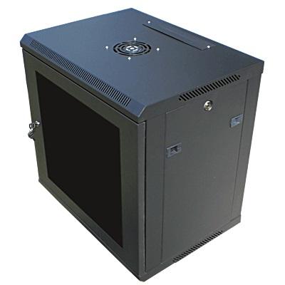 """Datacom 19"""" rozvaděč 9U/ 450 mm (sklo) černý"""