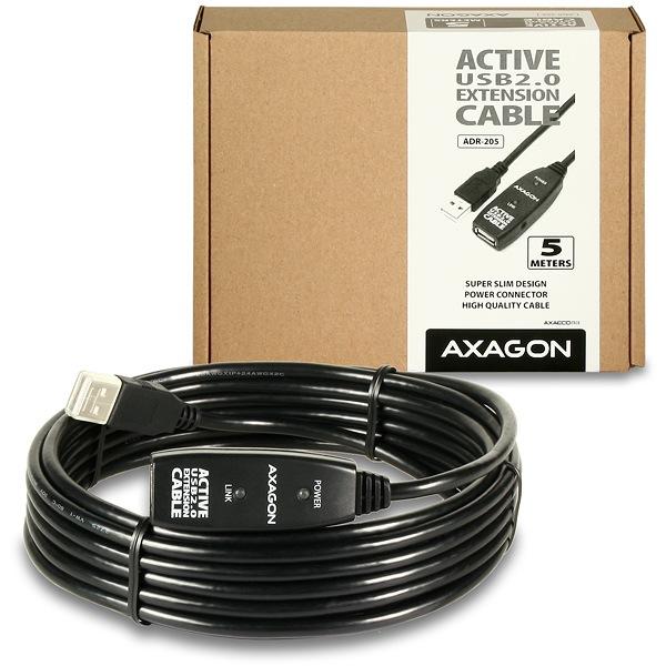 AXAGON ADR-205 USB2.0 aktivní prodlužovací / repeater kabel, 5m