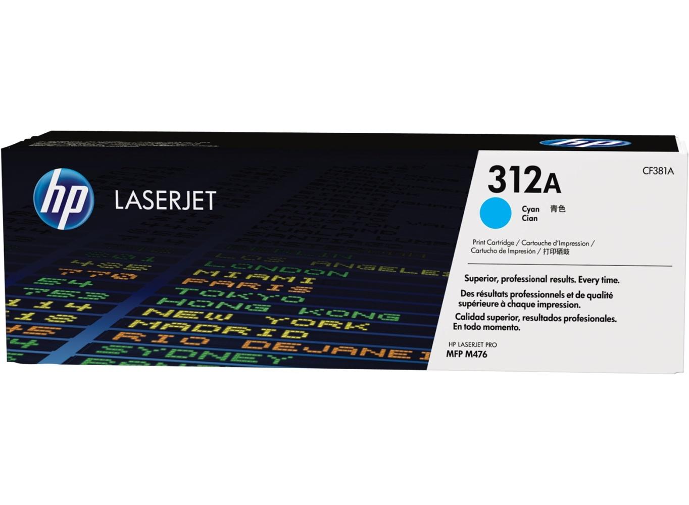 HP tisková kazeta azurová, CF381A