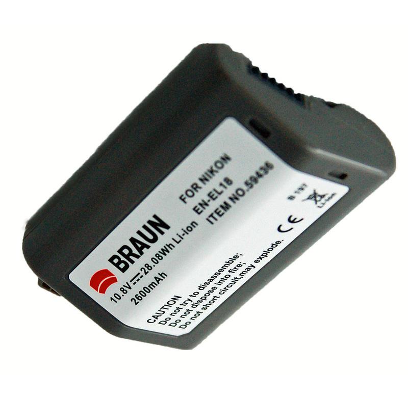 Braun akumulátor NIKON EN-EL18, 2600mAh