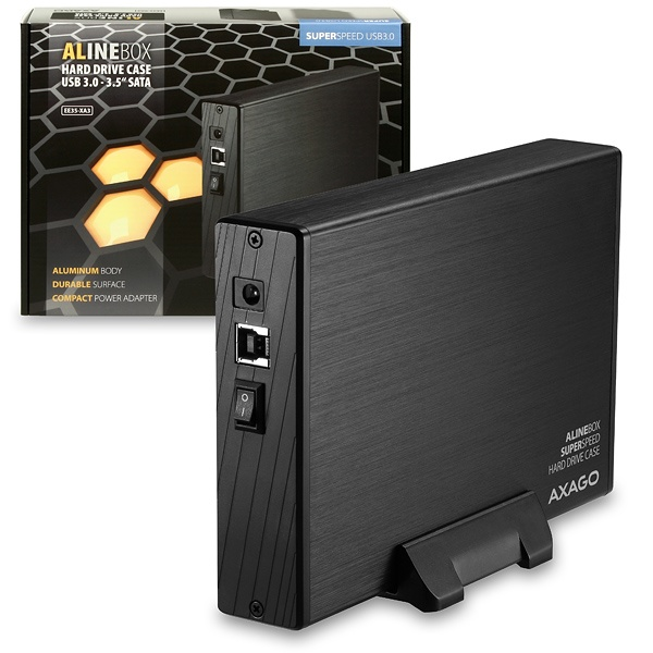 "AXAGON EE35-XA3, USB3.0 - SATA, 3.5"" externí ALINE box"