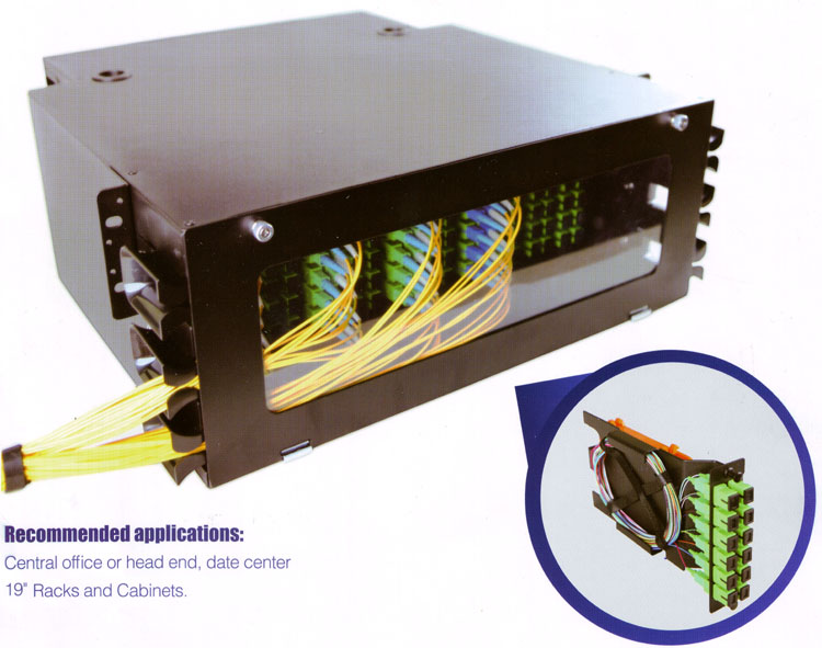 "19"" Optická VH vana  4U HD144 (SC)-288(LC) vláken"