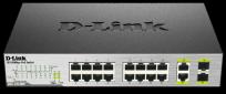 D-Link DES-1018MP 16x100+2xGbE RJ45/ SFP PoE switch