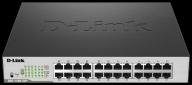 D-Link DGS-1100-24P 24-port Gigabit Smart switch, 12x GbE PoE+, PoE 100W