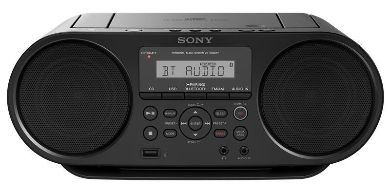 Sony mp3/ CD přehrávač ZS-RS60BT NFC/ BT, černý