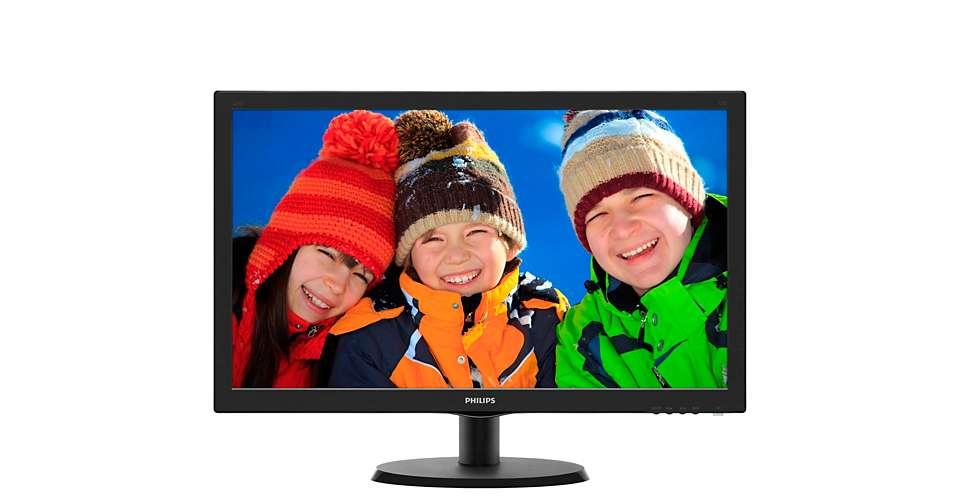"22"" LED Philips 223V5LHSB-FHD, HDMI"