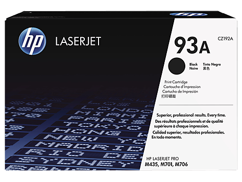 HP 93A tisková kazeta černá, CZ192A