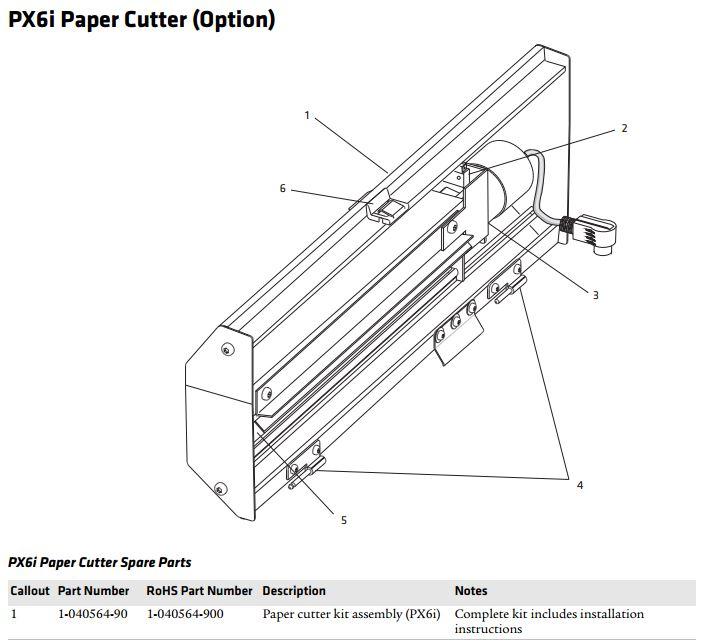 Honeywell Cutter Assy for EasyCoder PX6i ((Expect Longer Lea